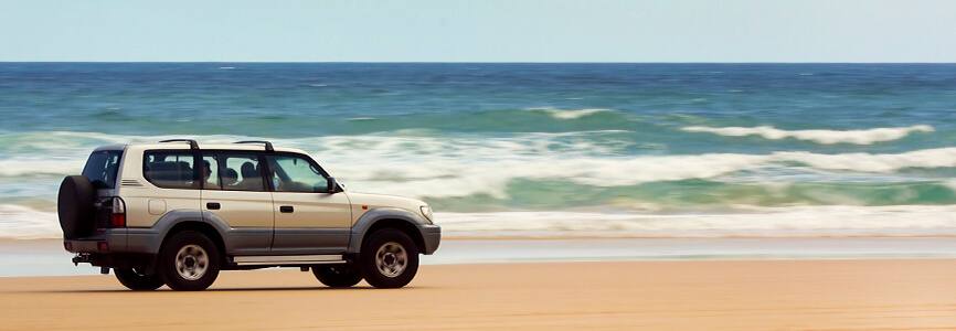 Go for a drive on the sand
