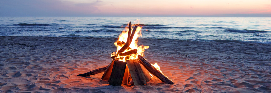 Have a beach bonfire