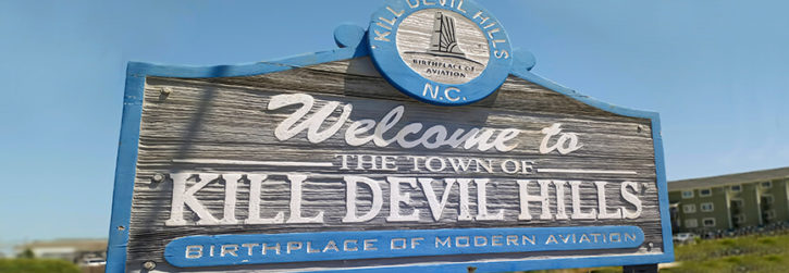 Welcome to Kill Devil Hills Town Sign